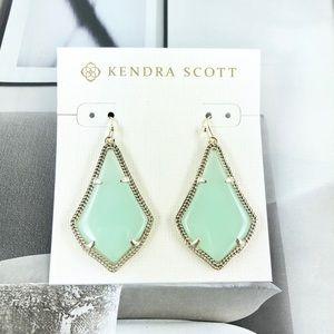 Kendra Scott Alex chalcedony gold earrings